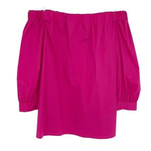 laundry by Shelli Segal Pink Off Shoulder Blouse